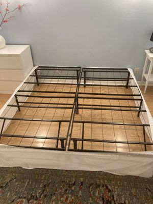 King Bed Storage Frame / 14 Inches High for Sale in Tamarac, FL