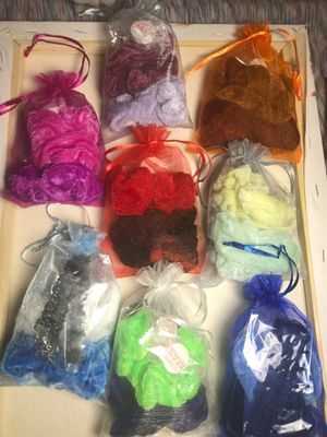 COLORED SCRUNCHIE CHOKER PACKS for Sale in Chicago, IL