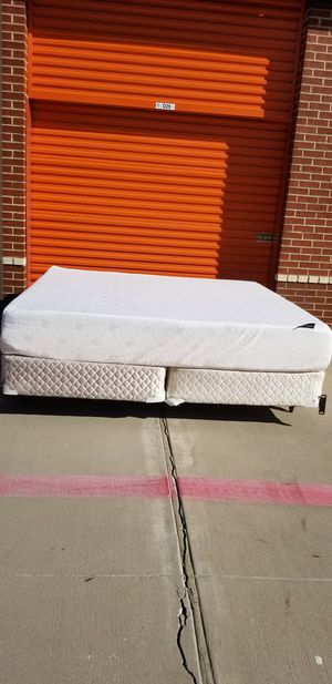 King Foam Mattress, Box Springs & Bed Frame for Sale in Frisco, TX
