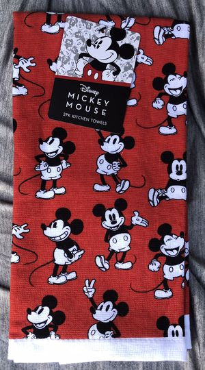 Mickey Mouse 2pack kitchen towels new for Sale in Riverside, CA