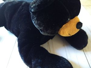 Black bear plush, stuffed animal, turns into a pillow for Sale in Fontana, CA