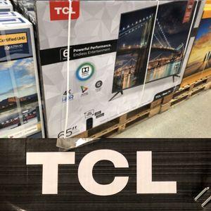 Tcl roku 65 inch 4K tv 65r613 for Sale in Pasadena, CA
