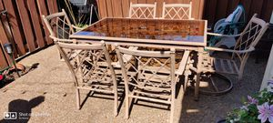 Patio dining table, 6 chair for Sale in Bellevue, TN