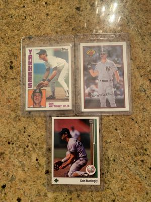 Various Don Mattingly baseball cards for Sale in Upland, CA