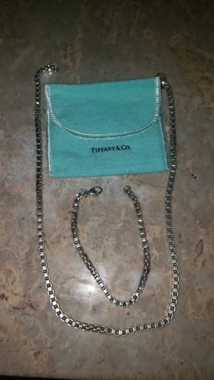 Tiffany & Co. Venetian Silver necklace & bracelet set for Sale in Royal Oak, MI