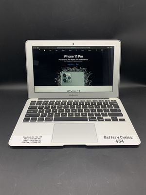MacBook Air 2013 11in Mojave 1.3ghz i5 4gb Ram 256gb SSD w apps #23 for Sale in Santa Ana, CA