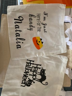 Personalized trick or treat bags for Sale in Morgan Hill, CA