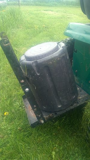 Lawn tractor tray,with plastic container,like a little trailer. for Sale in Warren, MI