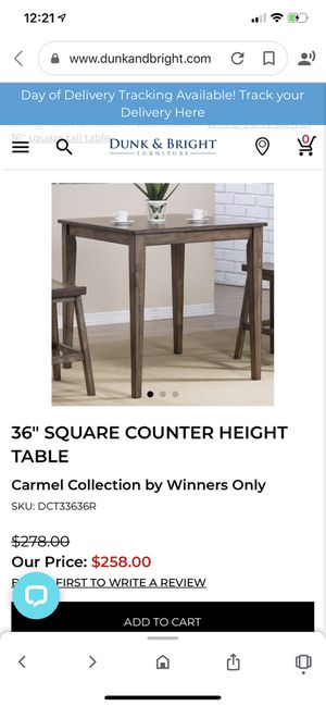 Height table / dining table for Sale in Portland, OR