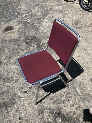 Burgundy chairs for sale for Sale in Miami, FL