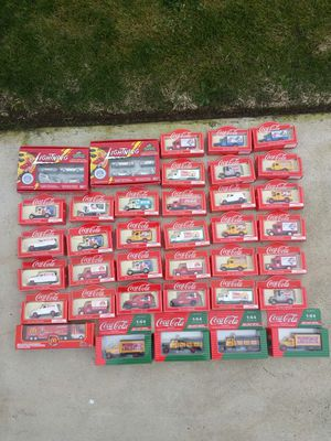 35 Coca-Cola Die-cast Collectible Toy Trucks 8 Johnny Lighting Cars for Sale in Fresno, CA