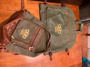 MGM Grand - backpack(leather) & garment bag suitcase set for Sale in Ontario, CA