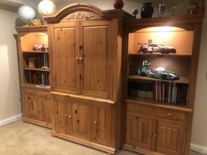 Three piece Bookshelves and Cabinets for Sale in Bolingbrook, IL