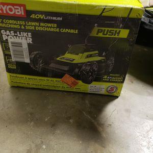 Ryobi Cordless Push Lawn Mower 40v for Sale in Riverside, CA