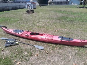 Prijon Seayak 15' kayak with rudder, oar, and vest. $400 FIRM. for Sale in Zephyrhills, FL