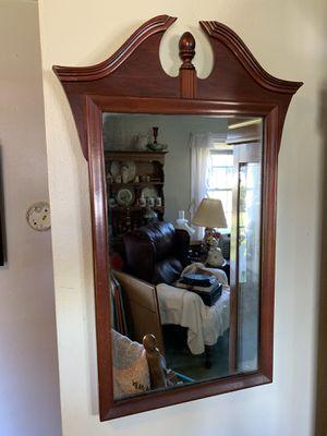 "14""x27"" antique Cherry wall mirror for Sale in Virginia Beach, VA"