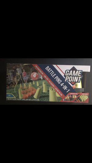 Kids game point battle pins / kids ring toss/ cones / bowling for Sale in El Mirage, AZ