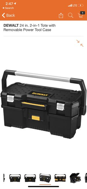 DEWALT 24 in. 2-in-1 Tote with Removable Power Tool Case for Sale in El Monte, CA