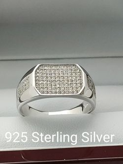 New with tag Solid 925 Sterling Silver MEN'S WEDDING Ring size 8/9 or 10 $150 OR BEST OFFER ** FREE DELIVERY!! 📦🚚 ** for Sale in Phoenix,  AZ