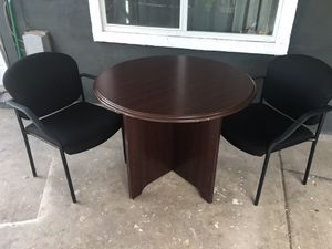 Office Table W/ 2 Office Chairs for Sale in Phoenix, AZ