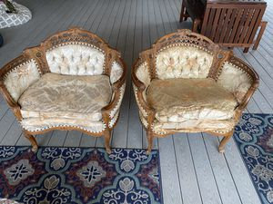 1920s antique wood carved chairs for Sale in Glendora, CA