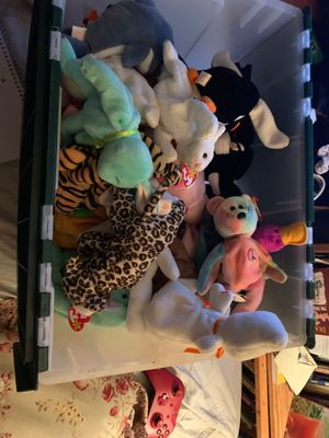 Authentic TY beanie babies brand new 57 of em for Sale in Bellevue, WA