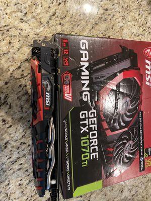 Msi nvidia gtx 1070ti gaming 8gb for Sale in Kent, WA