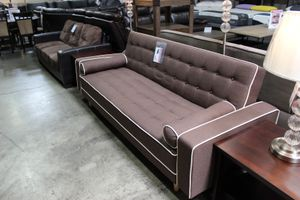 Brown Futon Bed with Pillows for Sale in Pico Rivera, CA