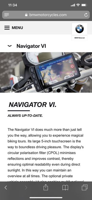 Garmin Navigator VI GPS Motorcycle BMW for Sale in Miami, FL