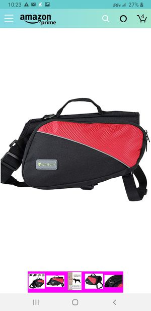 New/ L/Wellver Dog Backpack Saddle Bag Travel Packs for Hiking Walking Camping for Sale in Las Vegas, NV