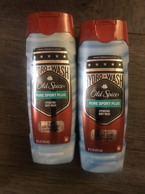 Old spice pure sport plus body wash $3.50 each for Sale in San Bernardino, CA