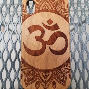 Ohm design laser engraved wood case for Sale in Newport Beach, CA