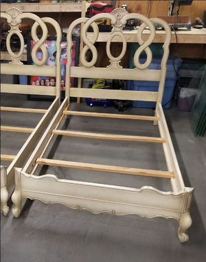 French Provincial Style Twin Size Wood Bed Frame (2 of 2) for Sale in Syracuse, NY