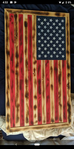 Wood American flag for Sale in Williamsport, PA