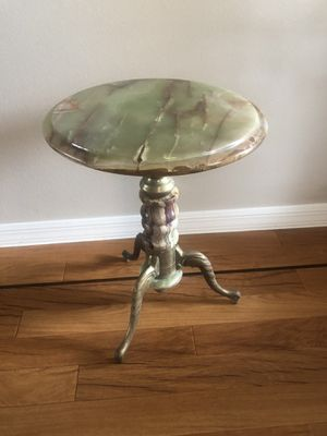 Onyx and Brass Antique table for Sale in Palm Harbor, FL