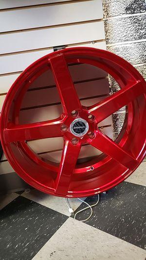 20x8.5 strada rims 5 lug bolt pattern 5x114 whit New tires 245 35 20 for Sale in Phoenix, AZ