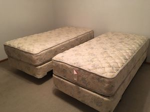 Twin XL MATTRESS AND BOX SPRING with frames for Sale in Beaverton, OR
