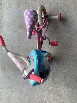Minnie bike and frozen helmet for Sale in Aldie, VA