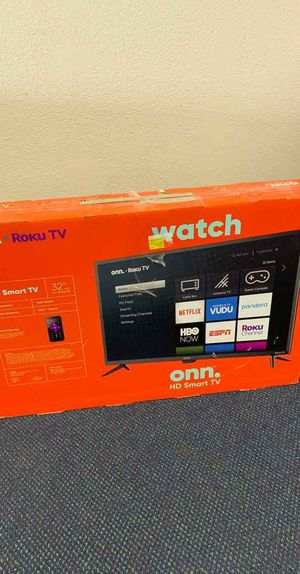 Onn Smart Tv 32 inches!! All new with warranty! Open Box TV! ROKU control! EP77 for Sale in Dallas, TX