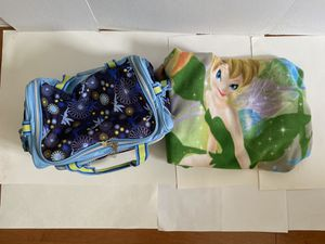 Tinkerbell duffle bag, sleeping bag, blanket & towel for Sale in NEW PRT RCHY, FL