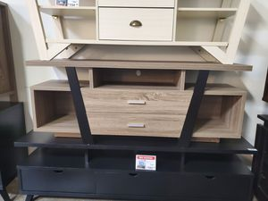 Sierra TV Stand up to 70in TVs, Dark Taupe & Black for Sale in Huntington Beach, CA