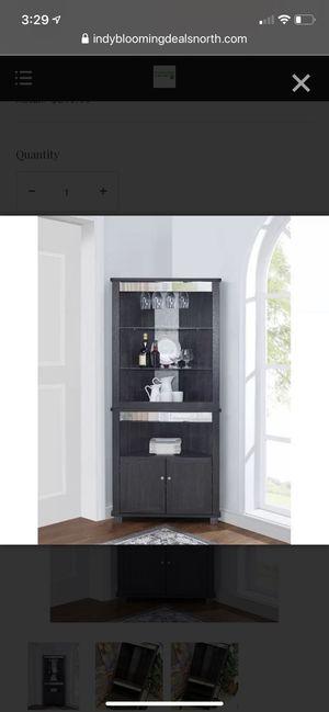 Red Barrel Studio Ashfield Bar & Wine Storage – Dark Gray for Sale in Indianapolis, IN