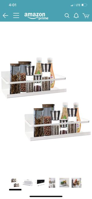 Brand new Magnetic Spice Rack Organizer Single Tier Refrigerator Spice Storage Shelf, Easy to Install The Side of The Refrigerator Can Hold spices, J for Sale in Fullerton, CA