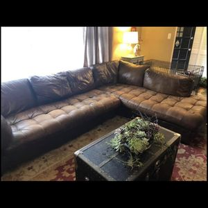 Large Designer Italian Leather Sectional for Sale in West Chester, PA