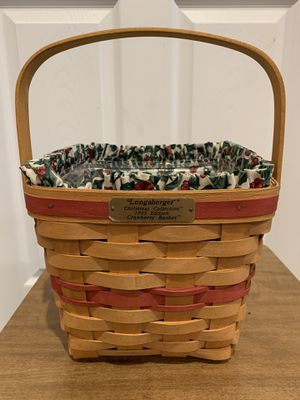 Longaberger red cranberry basket combo for Sale in Akron, OH