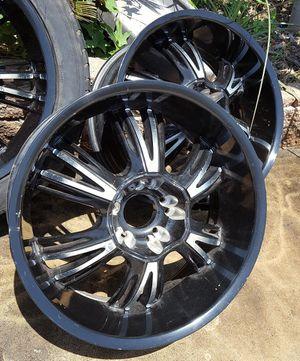 "20"" Rims (4) Black/Aluminum 6-spoke for Sale in San Diego, CA"
