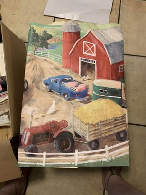 2 unopened rolls Farmhouse border - 5 yards each for Sale in Glendale, AZ