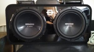 Kenwood excelon dual 12 inch subwoofer setup $280 for Sale in Portland, OR