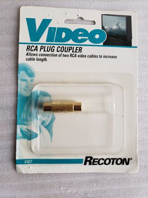 Recoton Video RCA Plug Coupler for Sale in Hyattsville, MD
