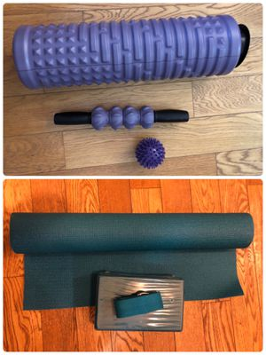Yoga mat, blocks, foam roller and roller stick for Sale in NJ, US
